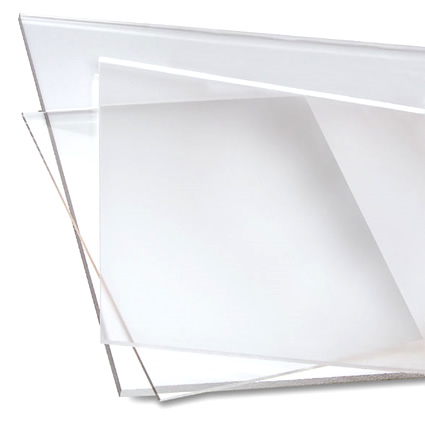 Materiale plastico trasparente resistente